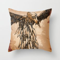 KNIFE VULTURE Throw Pillow