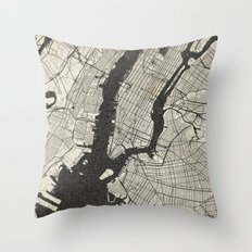 New York - Ink lines Throw Pillow