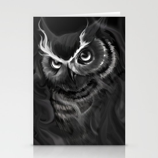 Owl Aflame Stationery Card