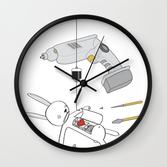 RABBIT FIX (SAVED RABBIT SERIES 2) Wall Clock