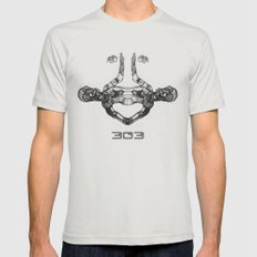 303 Mens Fitted Tee Silver SMALL