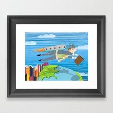 Going Global Framed Art Print