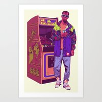 monster Art Prints featuring Monster Arcade by Mike Wrobel