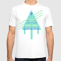 Tri∆nalog Mens Fitted Tee White SMALL