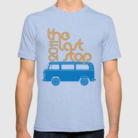 The Last Stop 2011 Mens Fitted Tee Tri-Blue SMALL