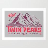 Visit Twin Peaks Art Print