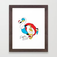 Doodle Bird Framed Art Print