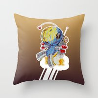 Rocket Bot Throw Pillow