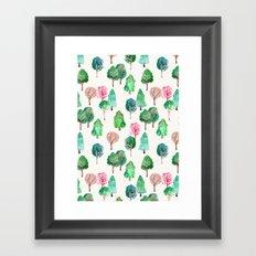 Little Trees Framed Art Print