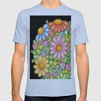 Colorful Orb On Black Mens Fitted Tee Athletic Blue SMALL