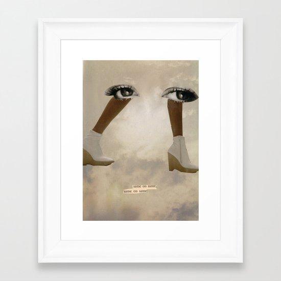 Keep Forward Framed Art Print