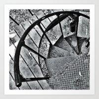 Spiral Staircase I Art Print