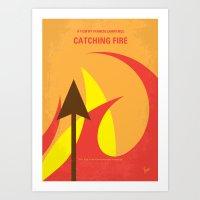No175 My Games Hunger minimal movie poster 2 Art Print
