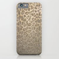 iPhone Cases featuring Shimmer (Golden Leopard Glitter Abstract) by soaring anchor designs
