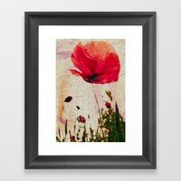 Heavy Poppy Framed Art Print