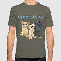 Brussels Griffon Mens Fitted Tee Lieutenant SMALL
