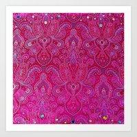 Paisley Jewels Art Print