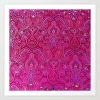 Paisley Jewels Art Print