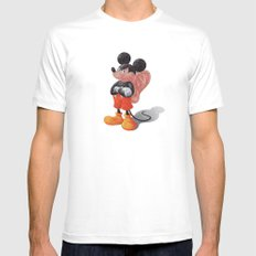 Mickey's Third Ear  White Mens Fitted Tee SMALL