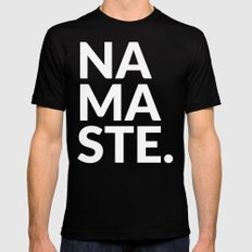 namaste Mens Fitted Tee Black SMALL