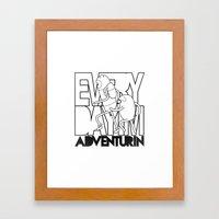 Every Day I'm Adventurin' Framed Art Print