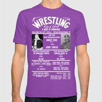 #2-B Memphis Wrestling W… Mens Fitted Tee Ultraviolet SMALL