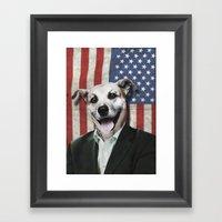 Patriotic Dog | USA Framed Art Print