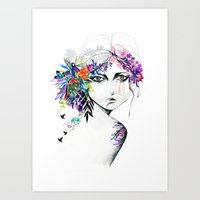 Exotic Girl Art Print