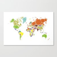 The World Goes Round & R… Canvas Print