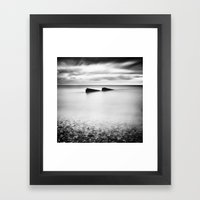 Jagged Sea Framed Art Print