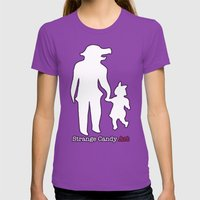 Strange Candy Art Womens Fitted Tee Ultraviolet SMALL