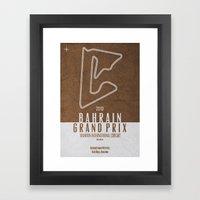 2013 Bahrain Grand Prix Framed Art Print