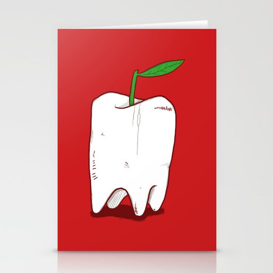 An Apple a Day Stationery Card
