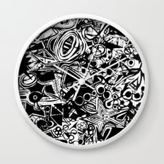 Black/White #1 Wall Clock