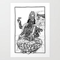 The Goddess Kamala Art Print