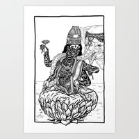 The Goddess Kamala Art Print