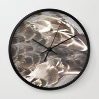 Feathers 2 Wall Clock