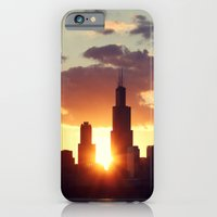 iPhone & iPod Case featuring Chi Sky by farsidian