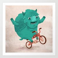 Bicycle Buffalo Art Print