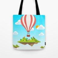 Flying Islands Tote Bag