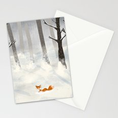 The Fox in the Snow Stationery Cards