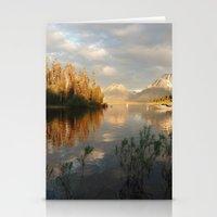 Sunrise on Jackson Lake, Grand Teton National Park Stationery Cards