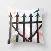 Dream And Reality Throw Pillow