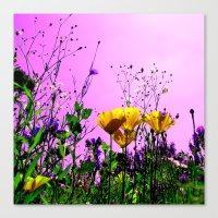 Flower Field Abstract IX Canvas Print