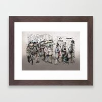 Queue Framed Art Print
