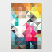 color story - pixelated warfare Canvas Print