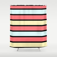 Color Band 70's - Formic… Shower Curtain