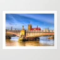 Lambeth Bridge London Art Print