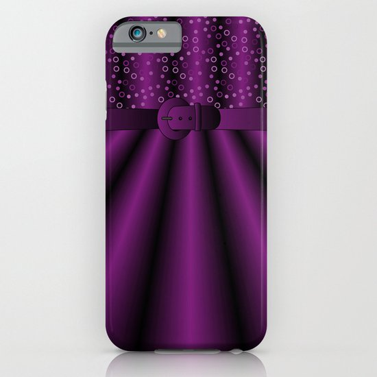Purple Satin Gown iPhone & iPod Case
