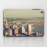 City of Seattle. View from city tower. Landscape city architecture photography. iPad Case